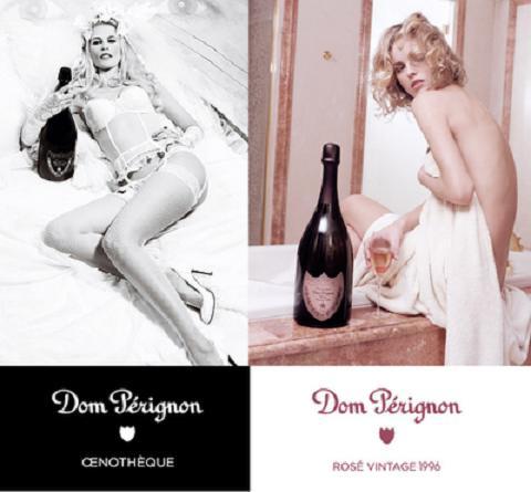 Клаудия Шиффер (Claudia Schiffer) и Ева Герцигова (Eva Herzigova) в рекламе Dom Perignon