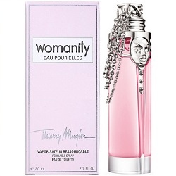 Аромат Womanity Eau Pour Elles от дизайнера Angel Sunessence Edition Bleu Lagon